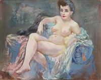sitzender weiblicher akt (eva) by george grosz