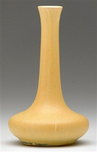 mission ware bottle-shaped vase by grand feu art pottery