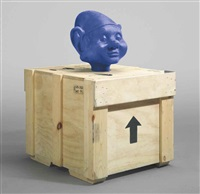 dwarf head (blue) by paul mccarthy