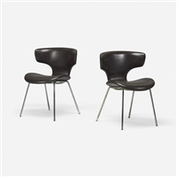 chairs model s-3048m, pair by isamu kenmochi