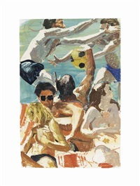 study for call of ball by eric fischl