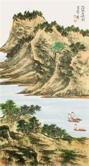 轻帆出峡图 by xie zhiliu