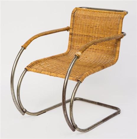 freischwinger mr 20 wei enhof stuhl von ludwig mies van. Black Bedroom Furniture Sets. Home Design Ideas