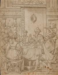 le banquet d'esther et assuérus by jan swart van groningen