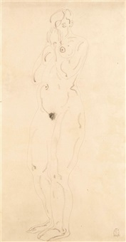 standing nude by sanyu