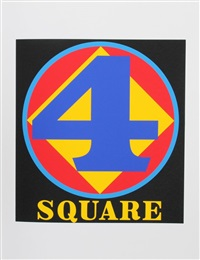 4 square (from the american dream portfolio) by robert indiana