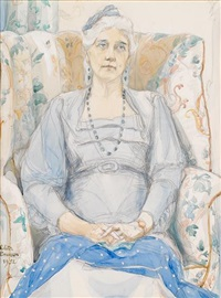 portrait of violet oakley (1874-1961) by edith emerson
