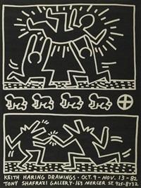 keith haring drawings at shafrazi gallery by keith haring