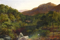 river dee, llangollen, north wales by charles smith