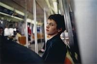 simon on the subway by nan goldin