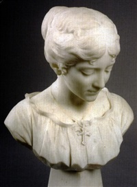 bust of evangeline by f. saul