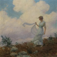 the hill top by charles courtney curran