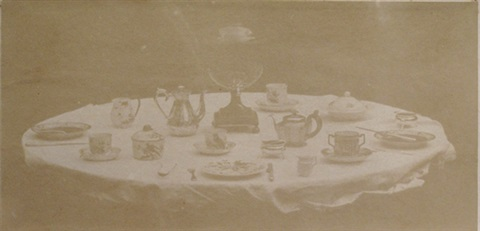table set for tea by william henry fox talbot