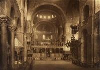 kircheninneres der basilica di san marco, venedig by fratelli alinari