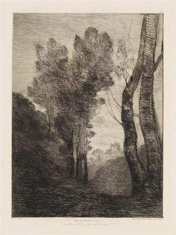environs de rome by jean baptiste camille corot