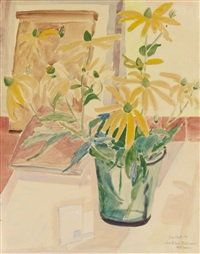 helianthemum-blüten by erich heckel