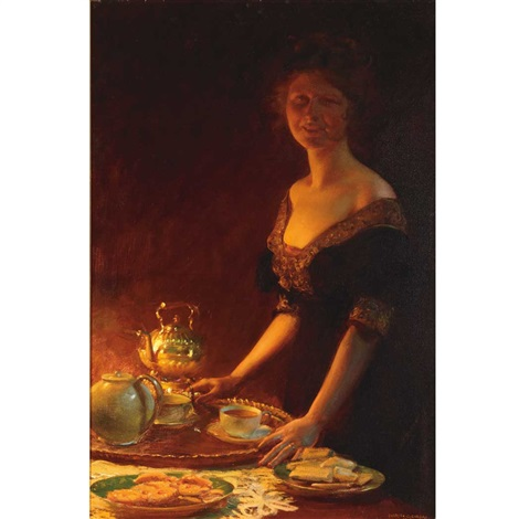 tea time by charles courtney curran