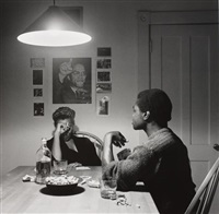 untitled (playing cards malcolm x) by carrie mae weems