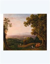 paesaggio con figure by carlo labruzzi