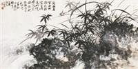 兰石草虫 镜片 设色纸本 by li xiongcai