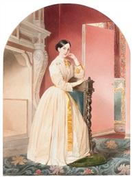portrait of grand duchess maria nikolaevna by vladimir ivanovich hau