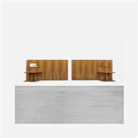 pair of headboards from royal hotel, naples by gio ponti