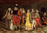die familie heinrichs i, herzog von guise by françois bunel the elder