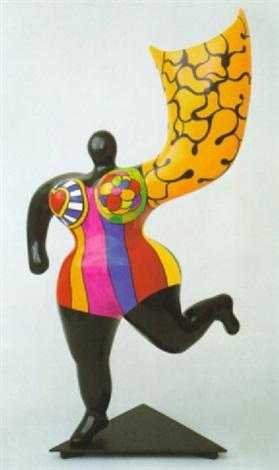 schwarzer nana engel von niki de saint phalle auf artnet. Black Bedroom Furniture Sets. Home Design Ideas