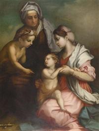 maria mit christus, im gespräch mit johannes und elisabeth by l. (accarisi or accurisi) accurisi