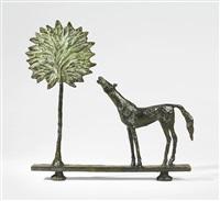 paysage au cheval et au palmier by diego giacometti