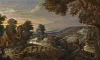 weite landschaft mit einem dorf by kerstiaen de keuninck