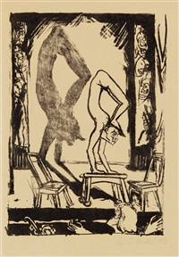 handstand by erich heckel
