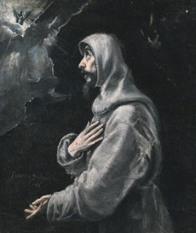 saint francis in ecstasy by el greco
