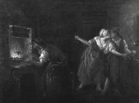 blacksmith cuckolded at his forge by leonard de france