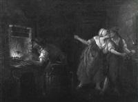 blacksmith cuckolded at his forge by leonard de france
