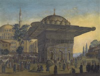 tophane fountain, constantinople by antoine ignace melling