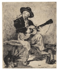 le guitarero by édouard manet