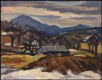 orford mountain, magog, pq by nora frances elisabeth collyer