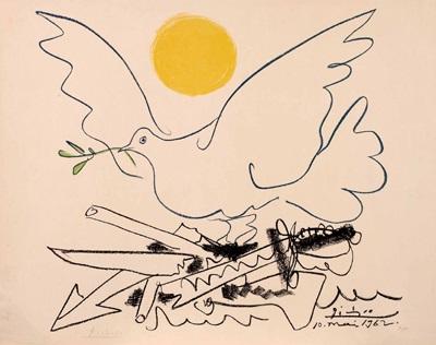 Friedenstaube und Sonne von Pablo Picasso auf artnet