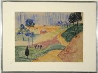 expressionist landscape by hilma af klint