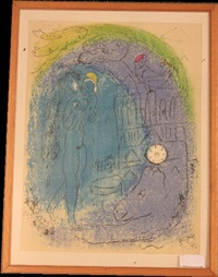 mutter und kind vor notre dame by marc chagall