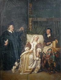 the doctor's visit (after gabriel metsu) by pieter cornelisz van slingeland