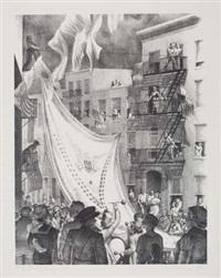 flag raising in leroy street by kyra markham