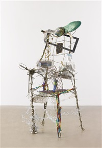 chair with objects by lucas samaras