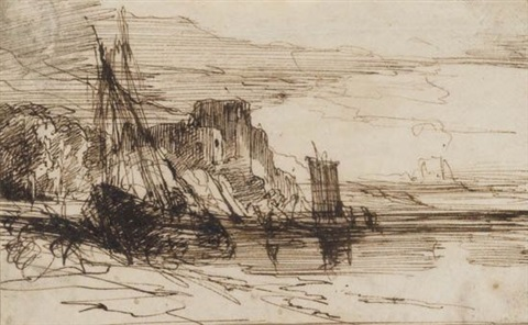 a wreck near pembroke castle by joseph mallord william turner