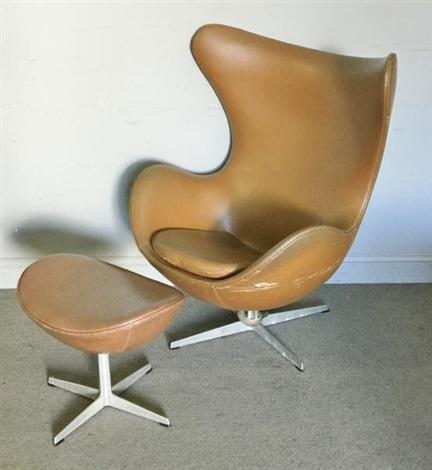 Arne Jacobsen Fritz Hansen Egg Chair Ottoman Von Arne Jacobsen Auf