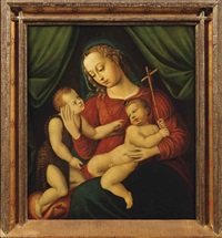 madonna and child with the infant saint john the baptist by vincent sellaer