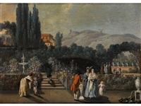 die gärten des benfica palais in portugal by malerie marder