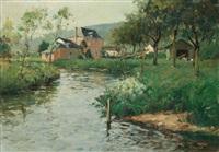 paysage by paul emile lecomte