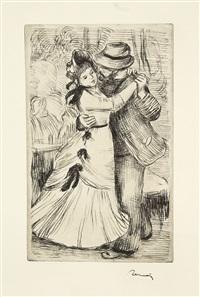 la danse à la campagne (2e planche) by pierre-auguste renoir